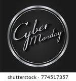 cyber monday sale concept ... | Shutterstock .eps vector #774517357