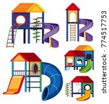 different designs of playhouses ... | Shutterstock .eps vector #774517753