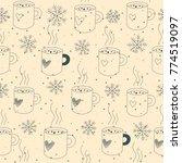 vintage winter seamless pattern.... | Shutterstock .eps vector #774519097
