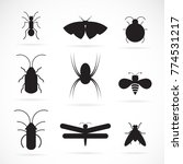 Vector Of Insects Group On...