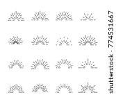 firework line icon set  vector...   Shutterstock .eps vector #774531667