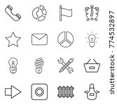 thin line icon set   phone ...   Shutterstock .eps vector #774532897