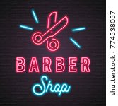 barber shop scissors symbol... | Shutterstock .eps vector #774538057