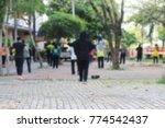 abstract blur of women group...   Shutterstock . vector #774542437