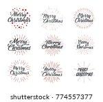 merry christmas. typography set.... | Shutterstock .eps vector #774557377