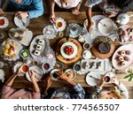 Small photo of Friends Gathering Together at a Tea Party