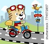 funny rider cartoon vector | Shutterstock .eps vector #774572857