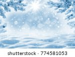 winter background with... | Shutterstock . vector #774581053