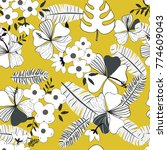 colorful seamless floral pattern | Shutterstock .eps vector #774609043