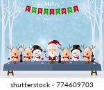 christmas santa claus  ... | Shutterstock .eps vector #774609703