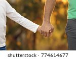 little boy holding his father's ... | Shutterstock . vector #774614677