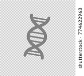 dna vector icon eps10. genetic... | Shutterstock .eps vector #774622963
