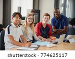 portrait of design students and ... | Shutterstock . vector #774625117
