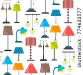 lamp furniture classic floor... | Shutterstock .eps vector #774633577