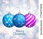 christmas card. xmas balls... | Shutterstock .eps vector #774637603