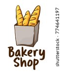 vector illustration of bakery... | Shutterstock .eps vector #774641197