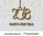 2018 happy new year design for... | Shutterstock .eps vector #774643483