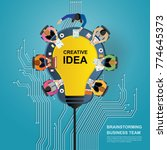 idea concept for business... | Shutterstock .eps vector #774645373