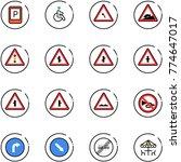 line vector icon set   parking... | Shutterstock .eps vector #774647017