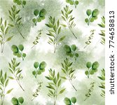 watercolor seamless pattern.... | Shutterstock . vector #774658813