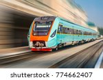 modern intercity train at the... | Shutterstock . vector #774662407