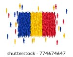 vector romania state flag... | Shutterstock .eps vector #774674647