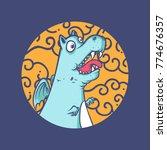 dinosaur vector illustration | Shutterstock .eps vector #774676357