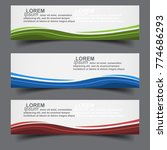 horizontal business banner... | Shutterstock .eps vector #774686293