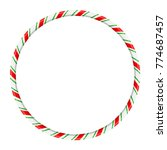 candy cane circle frame for... | Shutterstock .eps vector #774687457