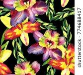 seamless watercolor pattern... | Shutterstock . vector #774688417