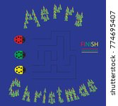 illustration of a maze  riddles....   Shutterstock .eps vector #774695407