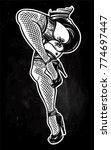 ornate dancing female legs in... | Shutterstock .eps vector #774697447