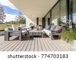 neat and tidy terrace with... | Shutterstock . vector #774703183