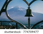Small photo of Mt. Fuji at Kawaguchi Lake from the top of lope way.