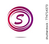 pink circle abstract symbol... | Shutterstock .eps vector #774714373
