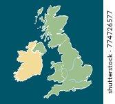cartoon map of england   Shutterstock . vector #774726577