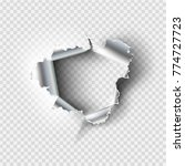 ragged hole torn in ripped... | Shutterstock .eps vector #774727723