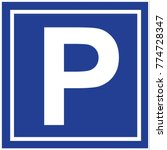 car parking icon vector | Shutterstock .eps vector #774728347