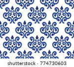 Blue And White Ceramic Pattern...