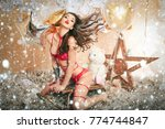 new year christmas snow concept ... | Shutterstock . vector #774744847