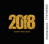 happy new year banner. gold... | Shutterstock .eps vector #774749503