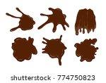 vector cartoon chocolate drops... | Shutterstock .eps vector #774750823