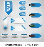 set of vector price tags. you...   Shutterstock .eps vector #77475154