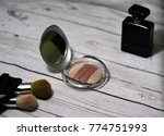 powder and cosmetic accessories ... | Shutterstock . vector #774751993