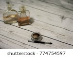 eye shadows and perfume bottles ... | Shutterstock . vector #774754597