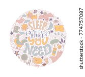 sleep it s what you need... | Shutterstock .eps vector #774757087