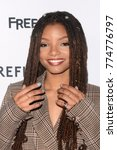 "Small photo of LOS ANGELES - DEC 13: Halle Bailey at the ""Grown-ish"" Premiere Screening at the Lure Nightclub on December 13, 2017 in Hollywood, CA"