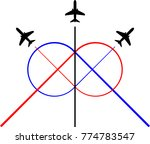airplane flying formation  air... | Shutterstock .eps vector #774783547