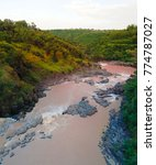 Small photo of Panorama of rapids at Awash river in Ethiopia