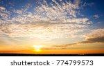 panorama twilight morning sky...   Shutterstock . vector #774799573